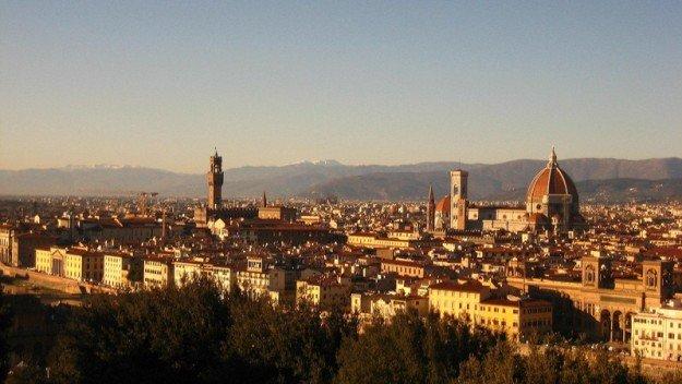 Площадь, флоренция микеланджело, италия