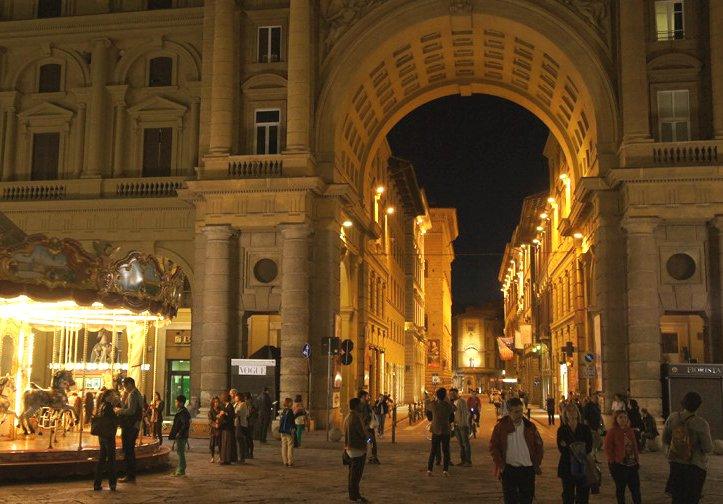 ночные улицы флоренция