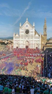 исторический матч, праздник. флоренция