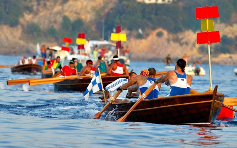 Соревнования по гребле в Порто-Санто-Стефано